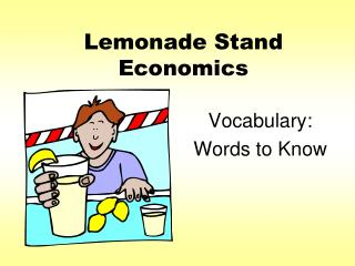 Lemonade Stand Economics