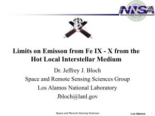 Limits on Emisson from Fe IX - X from the Hot Local Interstellar Medium