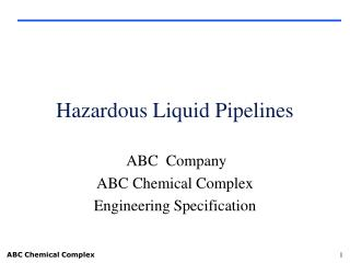 Hazardous Liquid Pipelines