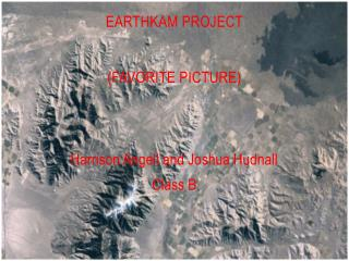 EarthKam Project (Favorite Picture)