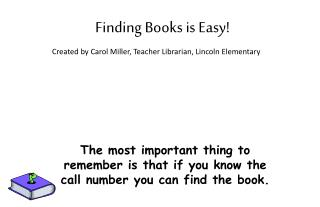Finding Books is Easy!
