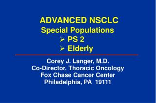 ADVANCED NSCLC