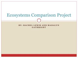 Ecosystems Comparison Project