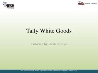 Tally White Goods
