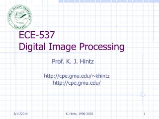 ECE-537 Digital Image Processing