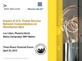 Impact of U.S. Postal Service Network Consolidation on Remittance Mail