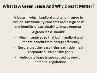 What Is A Green Lease And Why Does It Matter?