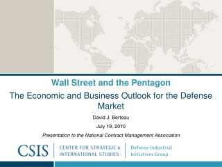 Wall Street and the Pentagon
