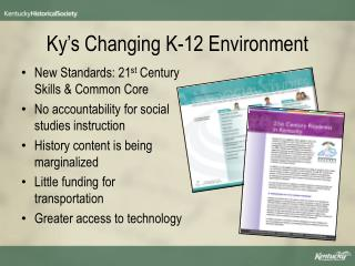 Ky's Changing K-12 Environment