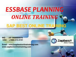 ESSBASE PLANNING ONLINE TRAINING | ESSBASE PLANNING Project
