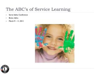 The ABC's of Service Learning