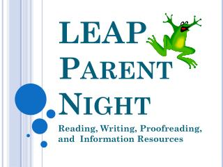LEAP Parent Night
