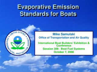 Evaporative Emission Standards for Boats