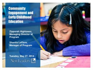 Community Engagement and Early Childhood Education