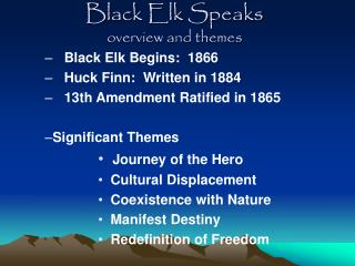 Black Elk Speaks overview and themes