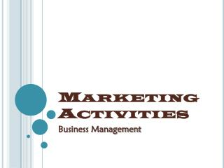 Marketing Activities