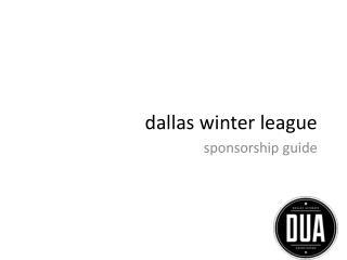 d allas winter league
