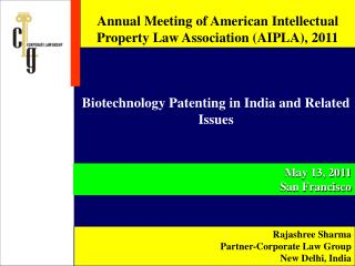Annual Meeting of American Intellectual Property Law Association (AIPLA), 2011