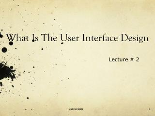 What Is The User  Interface Design