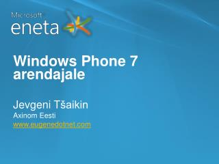 Windows Phone 7  arendajale