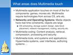 What areas does Multimedia touch