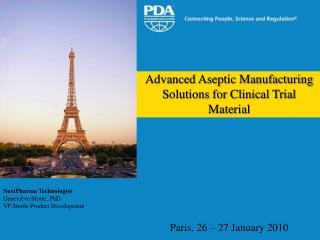 Advanced Aseptic Manufacturing Solutions for Clinical Trial Material