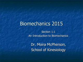 Biomechanics 2015