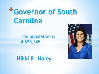 Governor of South Carolina