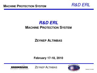 R&D ERL Machine Protection System