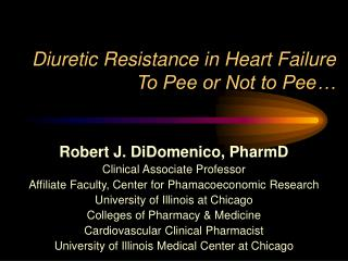 Diuretic Resistance in Heart Failure