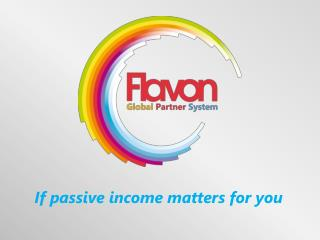 If passive income matters for you