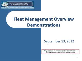 Fleet Management Overview Demonstrations