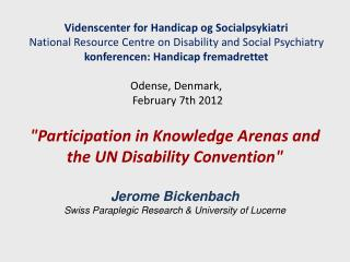 Videnscenter for Handicap og Socialpsykiatri