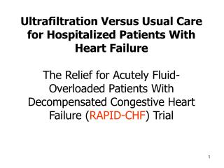 Ultrafiltration Versus Usual Care for Hospitalized Patients With Heart Failure