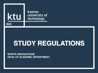 STUDY REGULATIONS