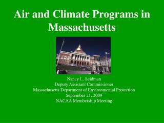 Air and Climate Programs in Massachusetts