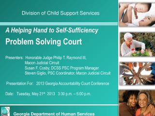 A Helping Hand to Self-Sufficiency Problem Solving Court