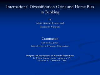 International Diversification Gains and Home Bias in Banking