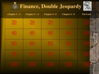 Finance, Double Jeopardy