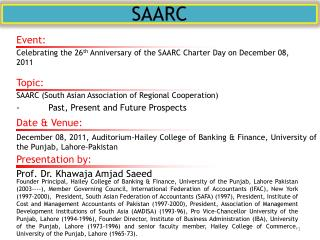 why saarc is not functioning well