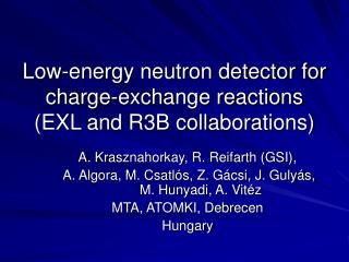 Low-energy neutron detector for charge-exchange reactions (EXL and R3B collaborations)