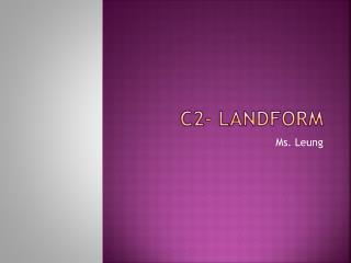 C2- landform