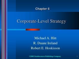 Corporate-Level Strategy