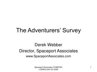 The Adventurers' Survey