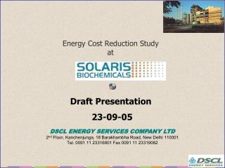 Energy Cost Reduction Study at