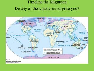 Timeline the Migration Do any of these patterns surprise you?