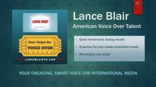 Lance Blair American Voice Over Talent