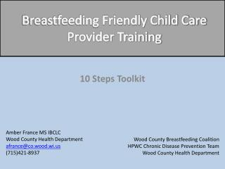 Breastfeeding Friendly Child Care Provider Training