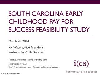 South  carolina  Early childhood Pay for success feasibility study