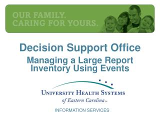 Decision Support Office Managing a Large Report Inventory Using Events
